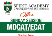 Spirit Academy MCAT, ECAT Entry Test Preparation 2020 Fee, Notes
