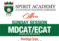 Spirit Academy MCAT, ECAT Entry Test Preparation 2020 Fee, Notes