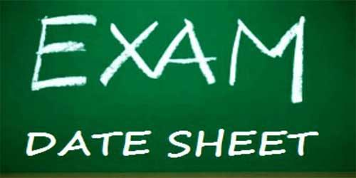 SBTE DAE Date Sheet 2020 1st, 2nd, 3rd Year