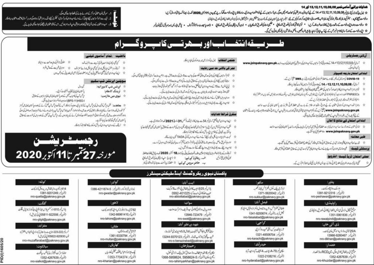 Join Pak Navy as Civilian Batch B 2021 Advertisement