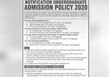 UET Entry Test Admit Card 2021 Download Online