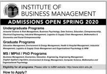 Institute of Business Management IOBM Admission 2020 Form