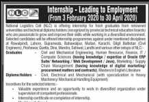 NLC Internship Program 2020 Apply Online Advertisement
