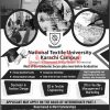 National Textile University Karachi Campus Admission 2020