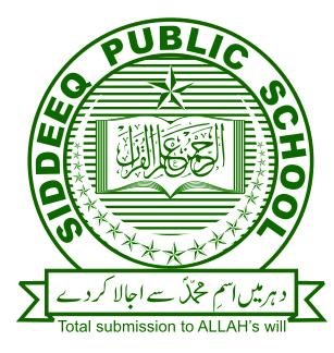 Siddeeq Public School Entry Test Syllabus 2021