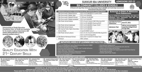 IBA Sukkur Admission Fall 2021 Form Download