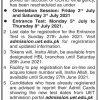 UET Taxila Entry Test 2021