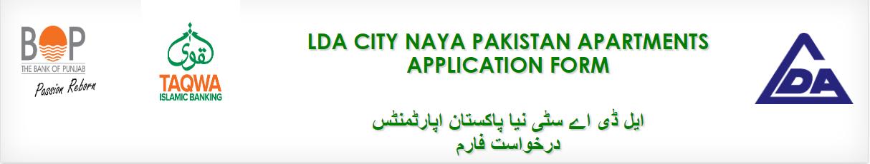 BOP LDA City Online Application For Naya Pakistan Apartments