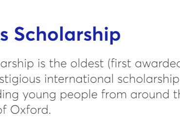 Rhodes Scholarship for Pakistan 2021 Eligibility, Deadline