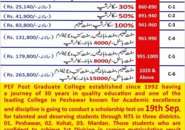 PEF Post Graduate College Scholarship 2021